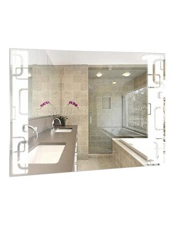 Зеркало со светодиодной подсветкой Мега, 80 х 60 cм