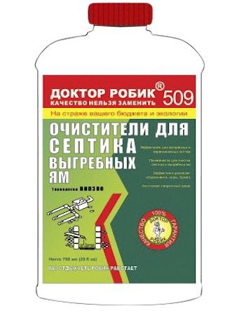 Очиститель для септика Доктор Робик 509