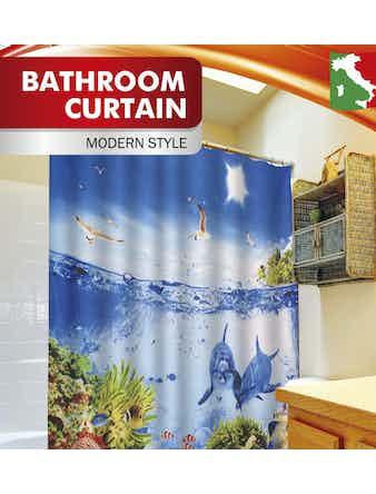 Занавеска для ванной Fora Кораллы