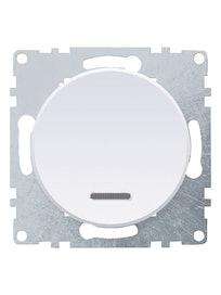 Выключатель 1-клавишный OneKey, с подсветкой, белый