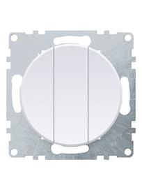Выключатель 3-клавишный OneKey, белый