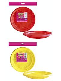 Тарелка пластиковая Д210, 6 шт., в ассортименте