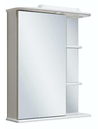 Шкаф-зеркало Runo Магнолия 60, белый, 60 х 24 х 75 см
