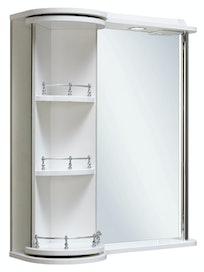 Шкаф-зеркало Runo Секрет 65, белый, 65 х 27,6 х 76 см