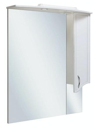 Шкаф-зеркало Runo Севилья 85, белый, 87,7 х 24 х 105 см