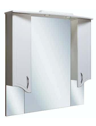 Шкаф-зеркало Runo Севилья 105, белый, 106,2 х 24 х 105