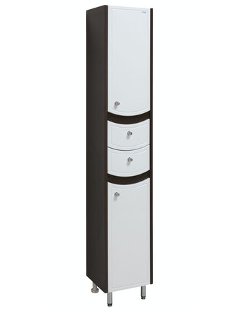 Шкаф-пенал правый Runo Аликанте 30, белый