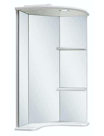 Шкаф-зеркало угловой Runo Браво 40, 40 x 79 x 40 см, белый