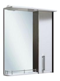 Шкаф-зеркало Runo Гранада 60, белый/венге, 60 х 24 х 75 см