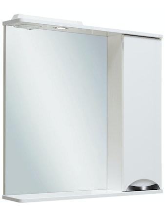 Шкаф-зеркало правый Runo Барселона 75, белый