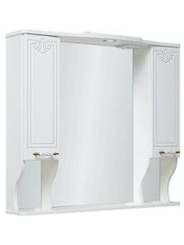 Шкаф-зеркало Runo Кантри 85, кремовый, 85 x 75 x 22 см