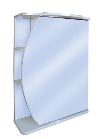 Шкаф-зеркало Runo Линда 50, белый, 51,3 x 80 x 25,3 см
