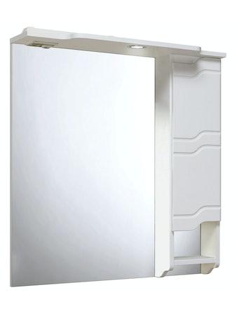 Шкаф-зеркало Runo Стиль, 75 x 80 x 24 см