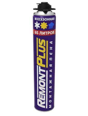Пена монтажная Remont+ PRO 65 всесезонная