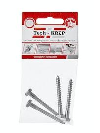 Шуруп сантехнический Tech-KREP, 6 х 50 мм, 4 шт.