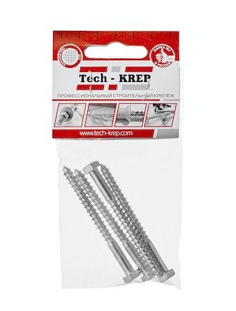 Шуруп сантехнический Tech-KREP, 6 х 70 мм, 4 шт.