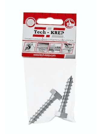 Шуруп сантехнический Tech-KREP, 10 х 50 мм, 2 шт.