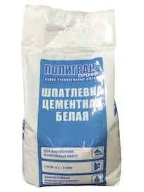 Шпатлевка цементная Полигран ШП, 5 кг, белая