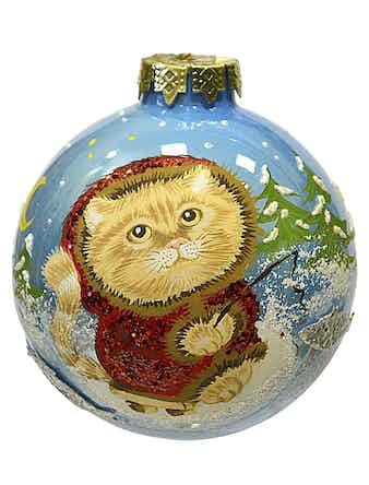 Шар Снежный котик, 8 см