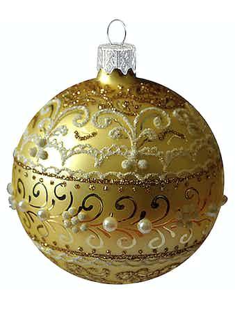 Шар Золотой узор, 6,5 см
