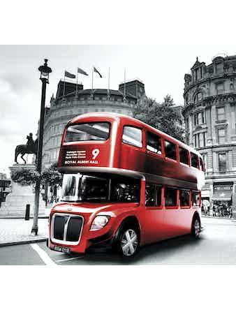 Фотообои DECOCODE лондонский автобус 31-0011-RR винил на флизелине 2,8x3м