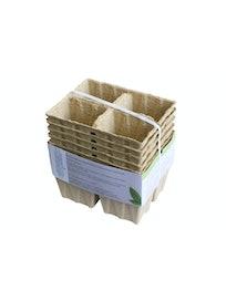 Горшок для рассады бумажный 225 мл / 4 ячейки 10 шт