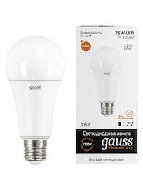 Лампа Gauss LED Elementary A67 2700K, 25 Вт х Е27