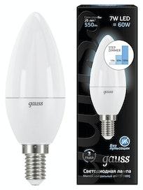 Лампа Gauss LED Candle 4100К, 7 Вт х Е14