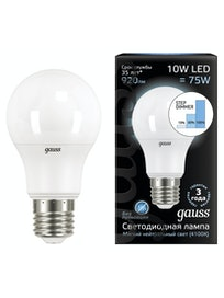 Лампа Gauss LED A604100K, 10 Вт х Е27
