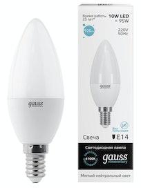 Лампа Gauss LED Elementary Candle 4100K, 10 Вт х Е14