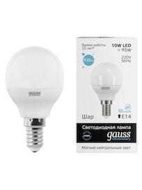 Лампа Gauss LED Elementary Globe 4100K, 10 Вт х Е14