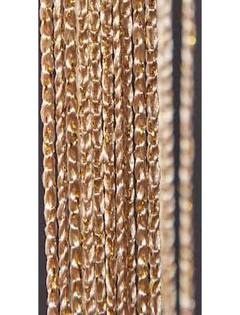Занавеска нитяная золото+люрекс 90х260