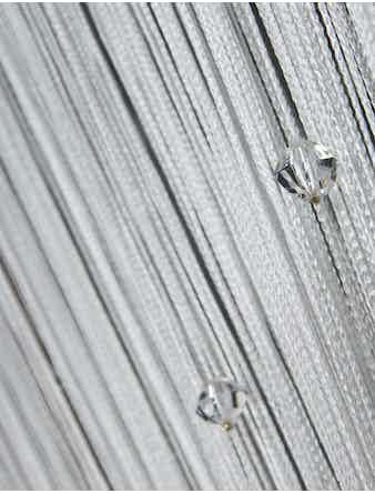Занавеска нитяная белая с бус. 140х280