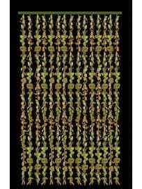 Занавеска бамбуковая с листвой HDF6029