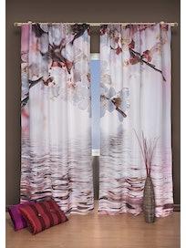 Штора Фотопринт Цветок вишни 140 х 280 см 2 шт