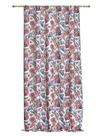 Штора на ленте Цветочный орнамент, 140 x 265 см