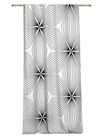Штора на ленте Цветы, 140 x 265 см
