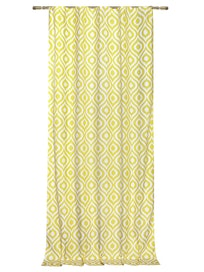 Штора на ленте Орнамент, 140 x 265 см, желтая