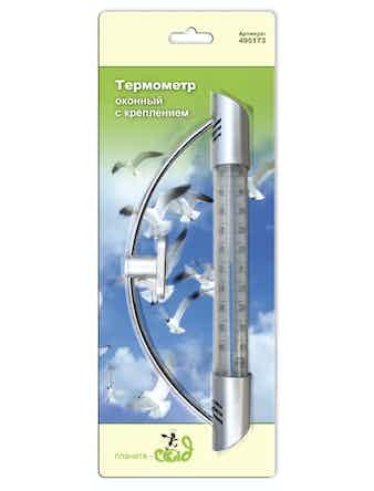 Термометр оконный с креплением 9,5х23см