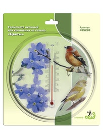 Термометр на стекло Цветы 16,5 х 2см