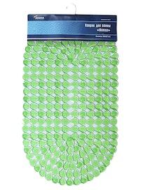 Коврик для ванной ПВХ Капля, зеленый, 39 х 70 см