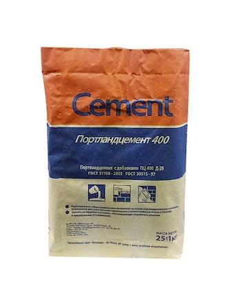 Цемент ПЦ 400 д20 25 кг