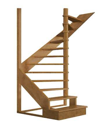 Лестница деревянная ЛЕС-01 универсальная