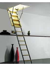 Комбинированная чердачная лестница, 700 х 1200 мм, L-2800 мм