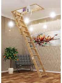 Чердачная лестница, 600 х 1200 мм, L-2800 мм