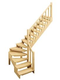 Лестница деревянная FXA Лес-09, универсальная
