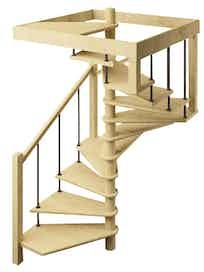 Лестница деревянная винтовая FXA Лес-10
