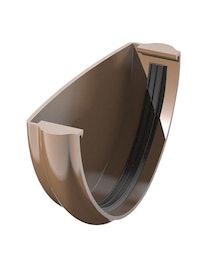 Заглушка желоба ПВХ, коричневая, 125 мм