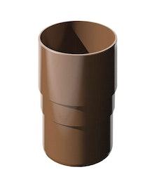Муфта трубы соединительной ПВХ, коричневая, 82 мм