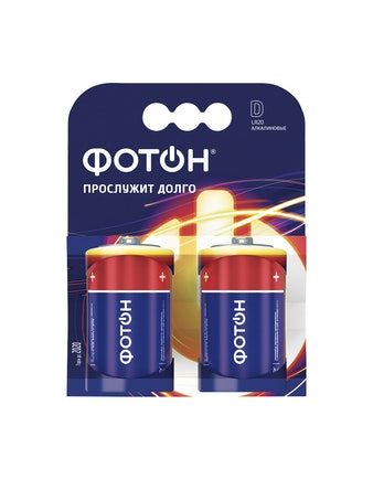 Элемент питания ФОТОН D LR20(бл.2 шт)